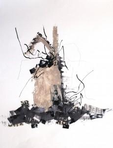 là-bas…en ruines d'après                  Ernest Pignon-Ernest          Hommage à Mahmoud Darwich
