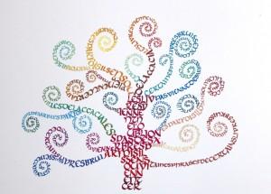 arbre à lire d'après G. Klimt. aquarelle 25/35